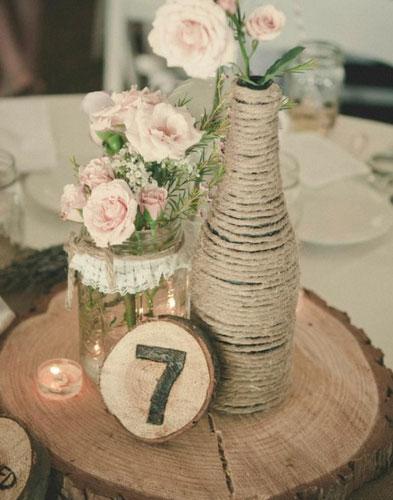 DIY Rustic Chic Wedding Centerpiece