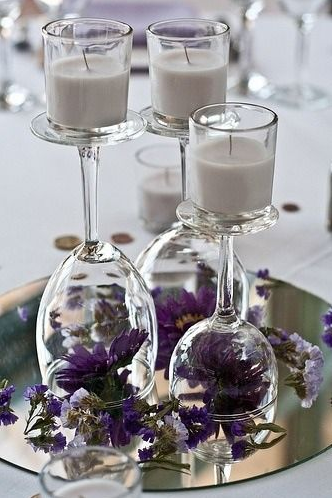 DIY Reception Table Centerpiece